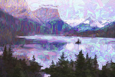 Mountains Digital Art - Saint Mary Colors II by Jon Glaser