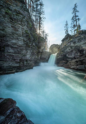 Photograph - Saint Mary Falls // Glacier National Park  by Nicholas Parker
