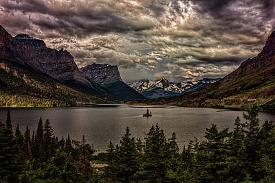 Photograph - Saint Mary Lake Stormy Sunrise 01 by Josh Bryant