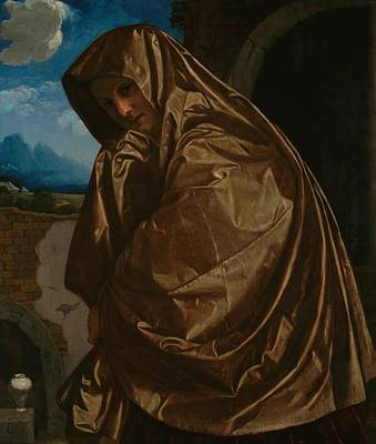 Sepulcher Painting - Saint Mary Magdalen At The Sepulchre by Giovanni Girolamo Savoldo