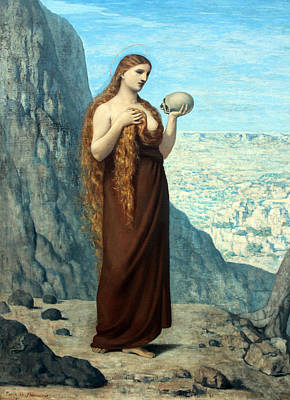 Painting - Saint Mary Magdalene In The Desert by Pierre Puvis de Chavannes