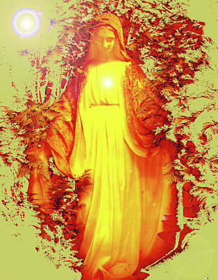 Queen Mary Mixed Media - Saint Mary No. 03 by Ramon Labusch