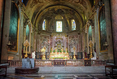 Saint Mary Of The Angels Rome Art Print by Joan Carroll