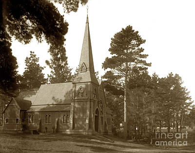 Photograph - Saint Marys By The Sea Episcopal Church Pacific Grove Circa 1890 by California Views Mr Pat Hathaway Archives
