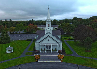 Photograph - Saint Mary's Church From Above by Ed Cabral