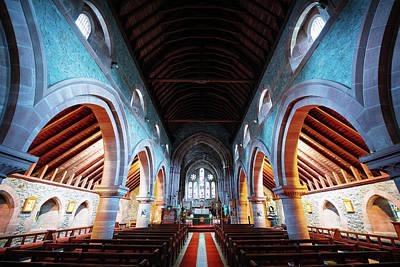 Photograph - Saint Marys Church Interior by Svetlana Sewell