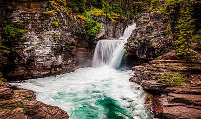 Photograph - Saint Mary's Falls Downstream by Rikk Flohr