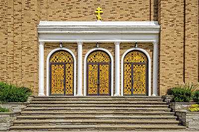 Photograph - Saint Marys Orthodox Church Entrance Doors  -  1937stmarysorthodox172409 by Frank J Benz