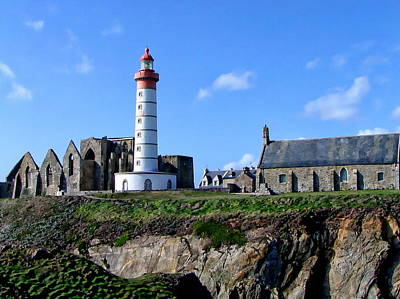 Photograph - Saint-mathieu Lighthouse And The Ruins Of The Abbey Of Saintlmat by Anthony Dezenzio