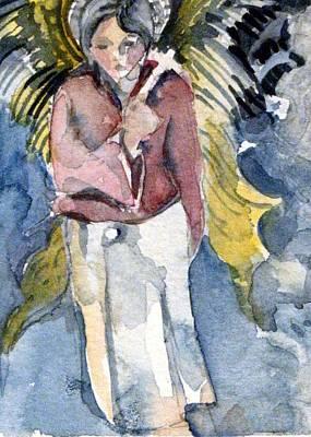 Saint Matthew Art Print by Mindy Newman