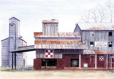 Painting - Saint Matthews Milling Co. by Jean Ehler