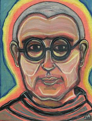 St Francis Prayer Painting - Saint Maxamillian Kolbe by Danielle Tayabas