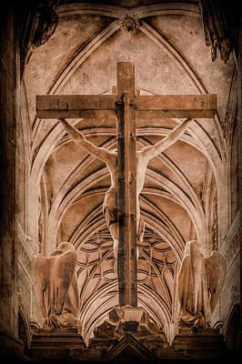 Photograph - Paris, France - Saint Merri's Cross II by Mark Forte