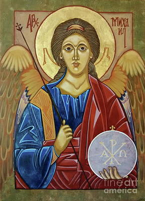 Egg Tempera Painting - Saint Michael Archangel by Danielle Tayabas