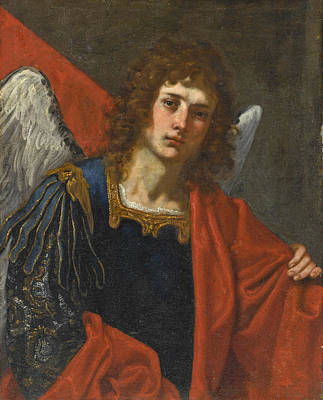 Painting - Saint Michael Half-length by Florentine School