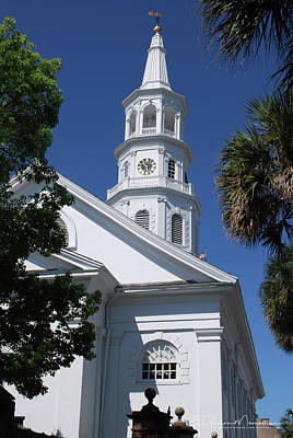 Photograph - Saint Michael's Church, Charleston by Gordon Mooneyhan
