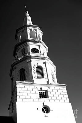 Photograph - Charleston Saint Michael's Church Tower by John Rizzuto