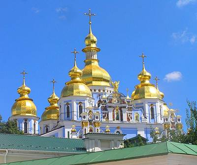 Photograph - Saint Michael Cathedral by Oleg Zavarzin