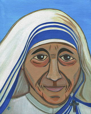 Works Of Mercy Painting - Saint Mother Teresa by Danielle Tayabas