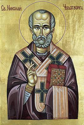 Saint Nicholas Art Print by Anton Dimitrov