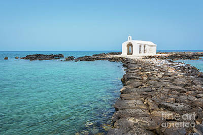 Crete Photograph - Saint Nicholas Chapel by Delphimages Photo Creations