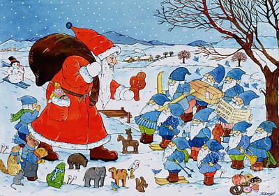 Saint Nicholas Art Print by Christian Kaempf