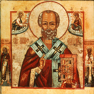 Orthodox Icon Photograph - Saint Nicholas by Granger