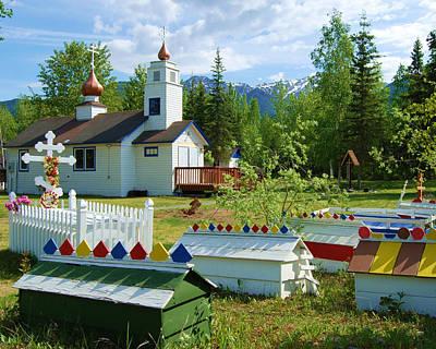 Photograph - Saint Nicholas Orthodox-eklutna Alaska by Cheryl Fecht