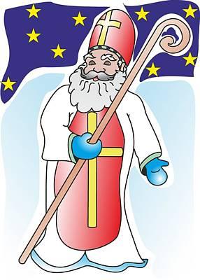 Saint Nicolas - My Www Vikinek-art.com Print by Viktor Lebeda