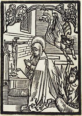 Drawing - Saint Odilia by Albrecht Durer