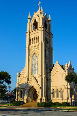 Saint Patrick Catholic Church Of Galveston Art Print by Tikvah's Hope