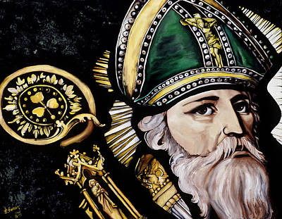 Saint Patrick Art Print by Leeann Stumpf