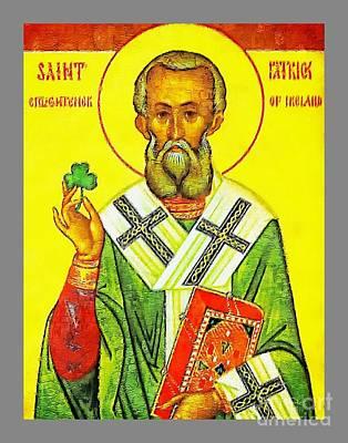 Painting - Saint Patrick - Vintage Painting by Ian Gledhill