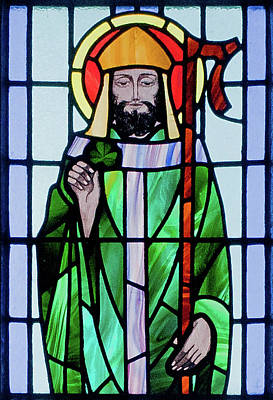 Photograph - Saint Patrick Window by Ellen Henneke