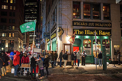 Photograph - Saint Patrick's At The Black Rose In Boston Ma by Toby McGuire