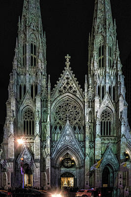 Photograph - Saint Patricks Cathedral by Chris Lord
