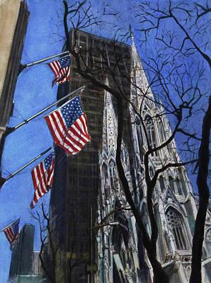 Patrick Painting - Saint Patrick's Cathedral by Henrieta Maneva