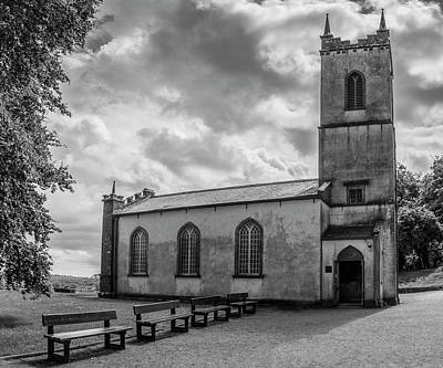Photograph - Saint Patricks Church On The Hill Of Tara Bw by Teresa Wilson