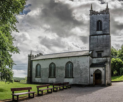 Photograph - Saint Patricks Church On The Hill Of Tara by Teresa Wilson