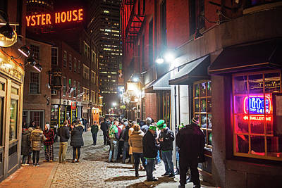 Photograph - Saint Patrick's Day On Marshall Street Boston Ma by Toby McGuire