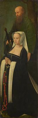 Digital Art - Saint Paul And A Donatrix by Followers of Gerard David