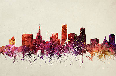 North Drawing - Saint Paul Cityscape 09 by Aged Pixel