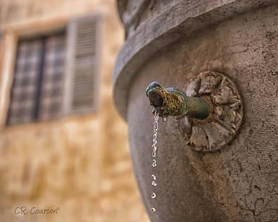 Photograph - Saint-paul-de-vence Fountain by CR Courson