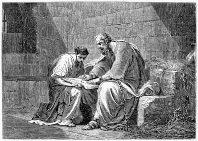 Early Christian Photograph - Saint Paul In Prison by Granger