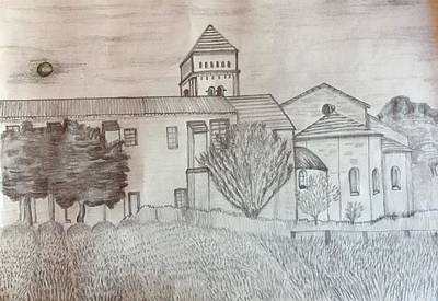 Natural Forces Drawing - Saint Paul Church by Jose Alejandro Wulffert