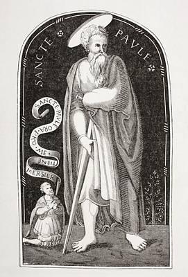 Bible Drawing - Saint Paul. Paul Of Tarsus. Paul The by Vintage Design Pics