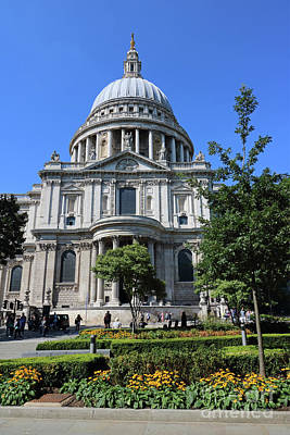 Photograph - Saint Pauls Cathedral London by Julia Gavin