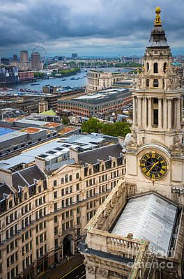 Spiral Staircase Photograph - Saint Paul's Cathedral View by Inge Johnsson