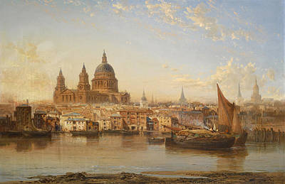 Painting - Saint Pauls From The River by James Webb