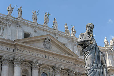 Photograph - Saint Peter And Saint Peter's Basilica by Fabrizio Ruggeri